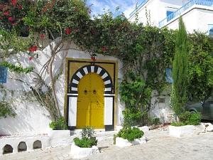 la seule porte jaune de Sidi Bou Saïd